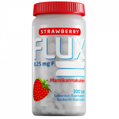 Flux Strawberry fluoritabletti 250 mikrog 300 imeskelytabl